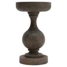 Tall Blackwash Wood Candle Holder