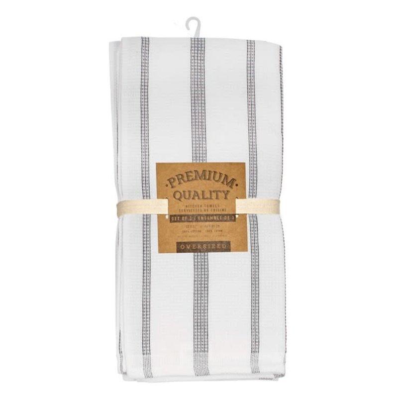 Grey Pin Stripe Tea Towels