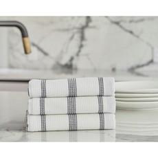 Black Pin Stripe Tea Towels
