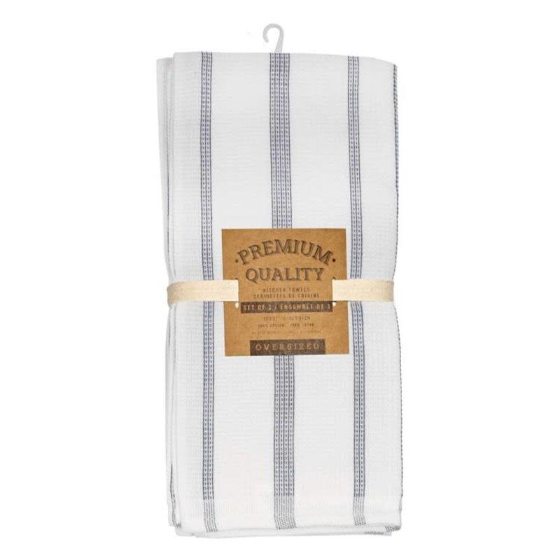 Navy Pin Stripe Tea Towels