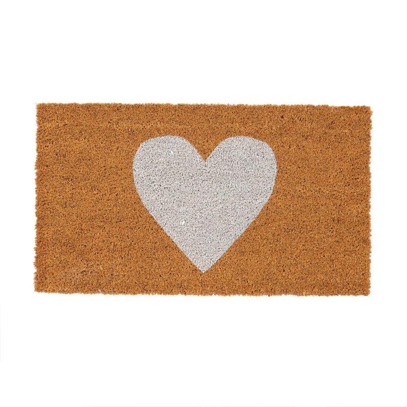 White Heart Doormat