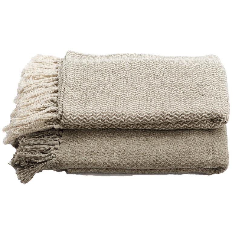 Chevron Cotton Blankets