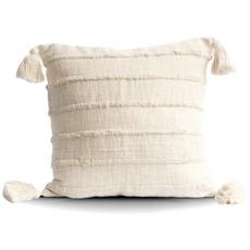 Wide Stripe Cream Pillows