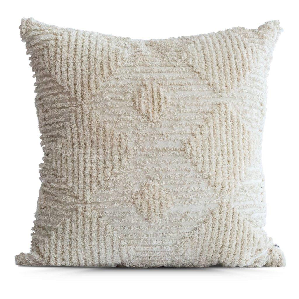 Cream Diamond Pillow