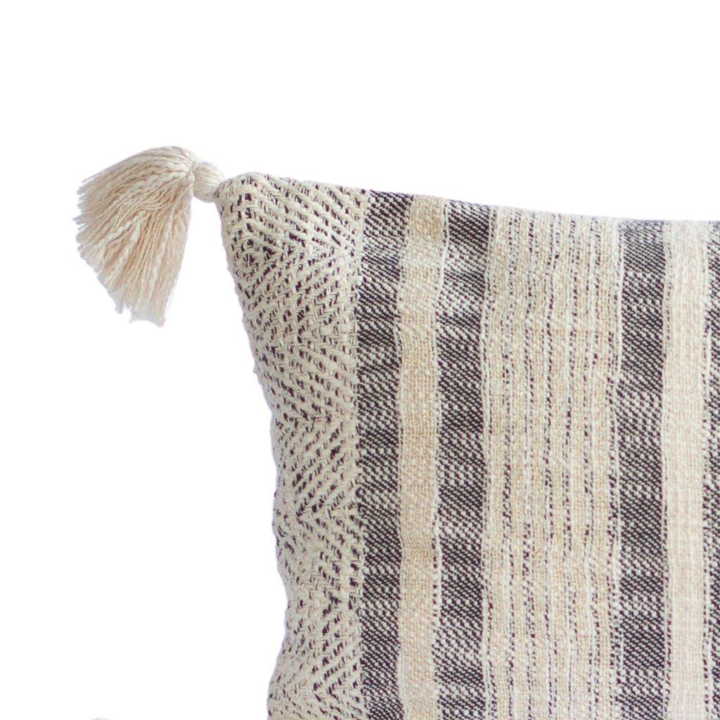 Diamond & Stripe Tassels Pillow