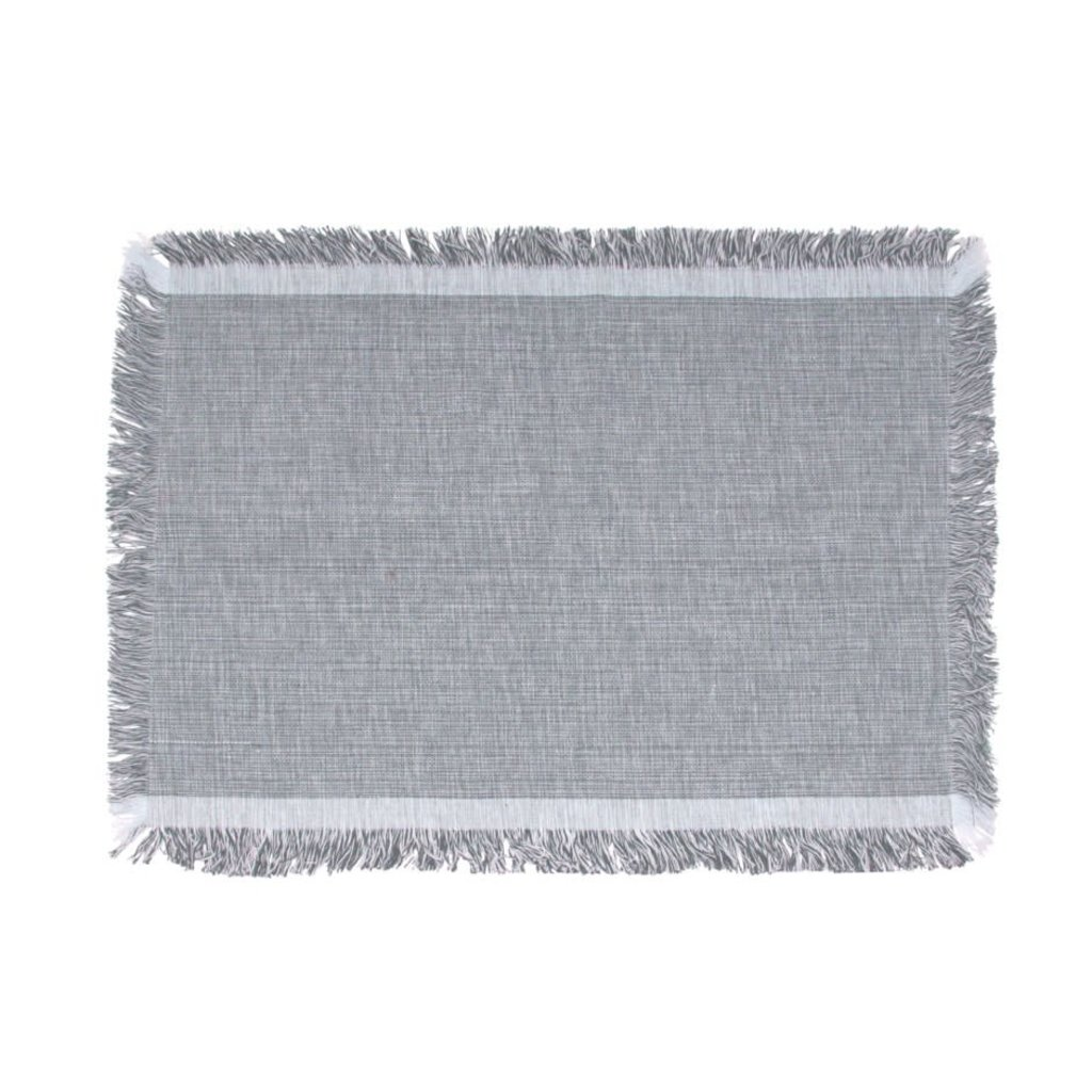 Grey Fringe Placemat