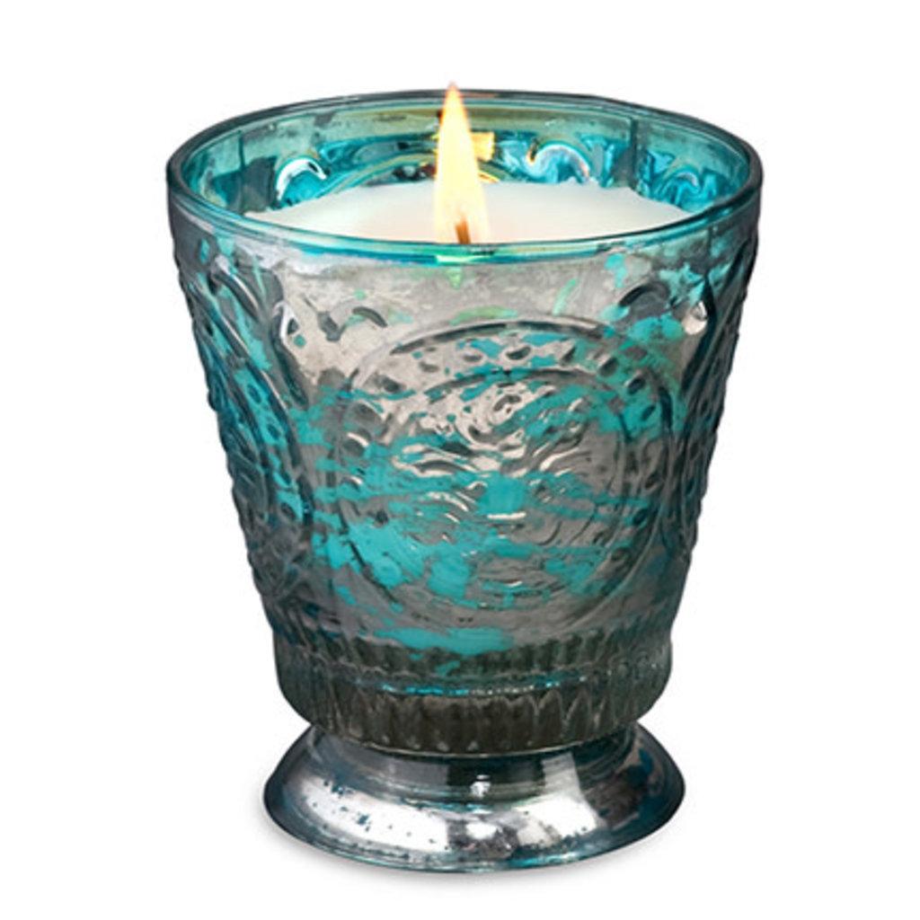 Blue Fleur De Lys Candle