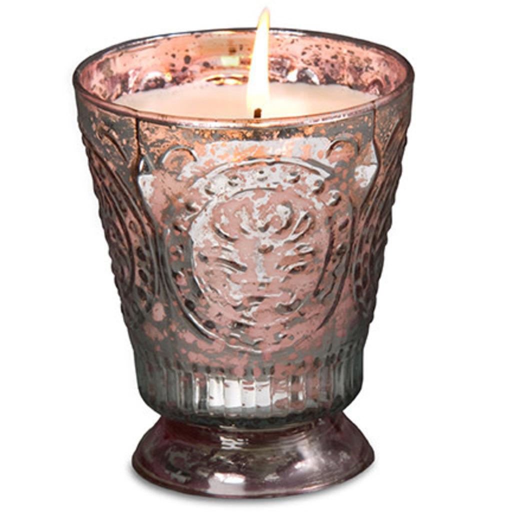 Pink Fleur De Lys Candle
