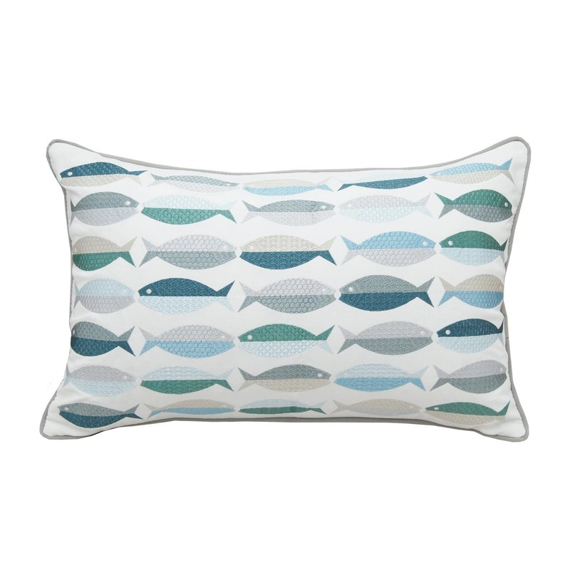 Sea Glass Fish Indoor/Outdoor Pillow
