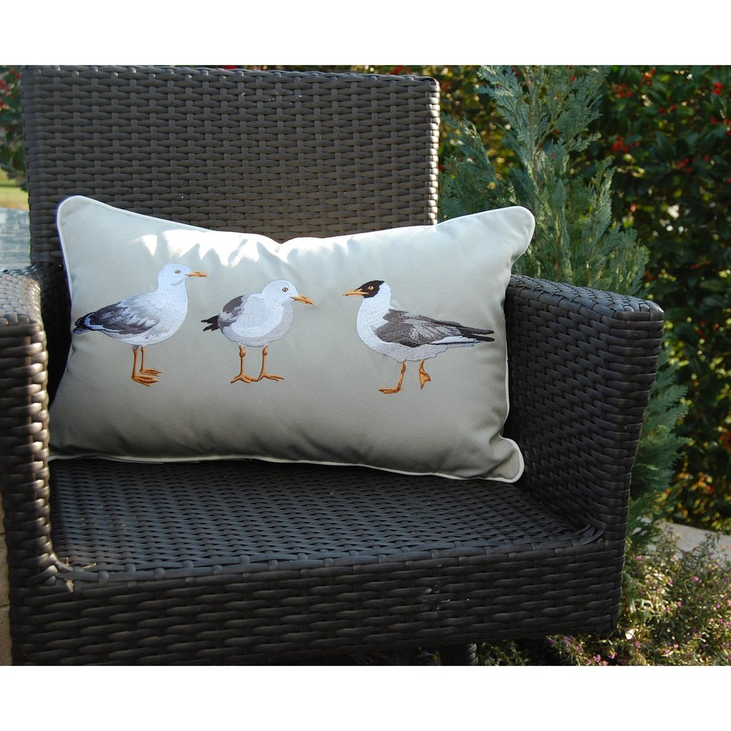 Seagull Flash Mob Indoor/Outdoor Pillow