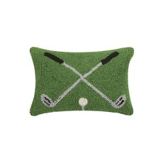 Cross Golf Clubs Hooked Pillow