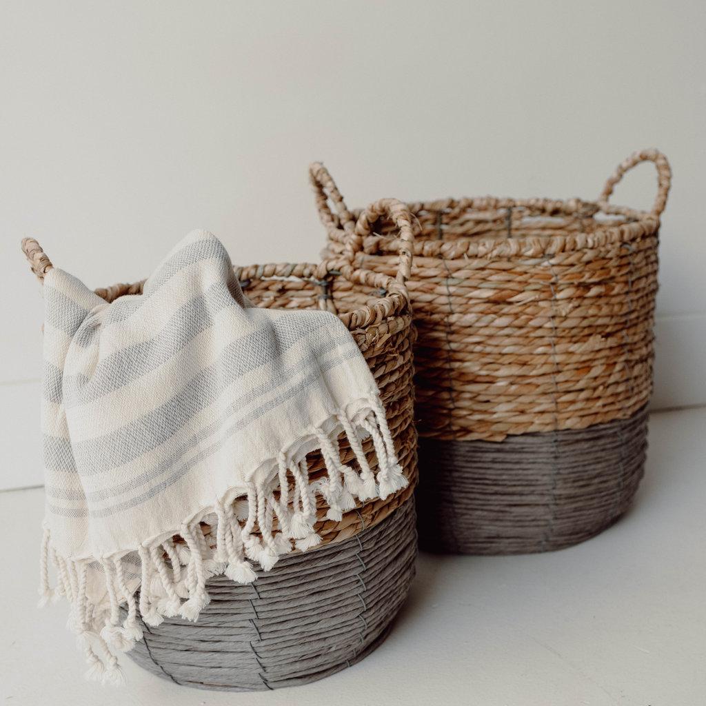 Grey Delray Seagrass Baskets