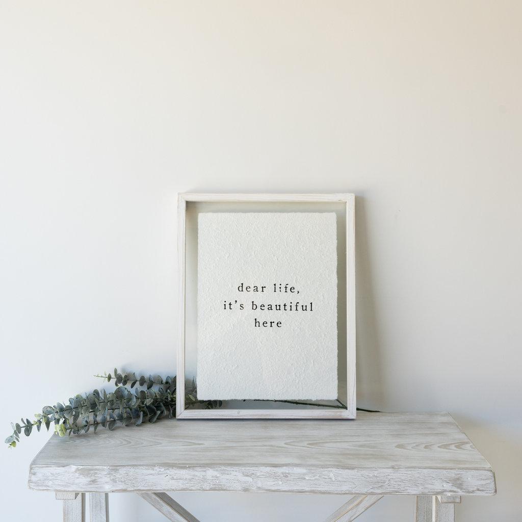 Dear Life Glass Print