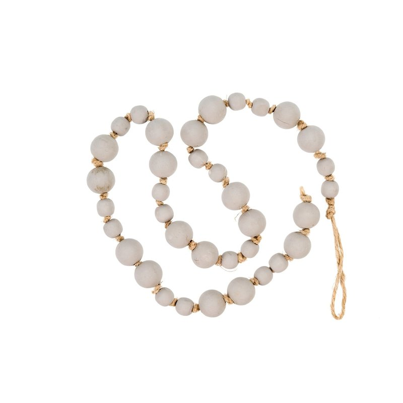 Light Grey Wood Prayer Beads