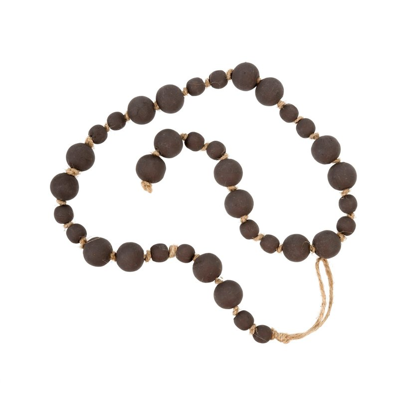Dark Grey Wood Prayer Beads