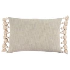 Grey Bora Tassel Pillow