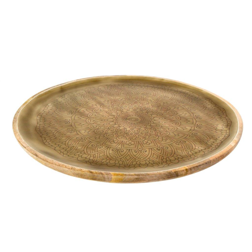 Mandala Wood Trays