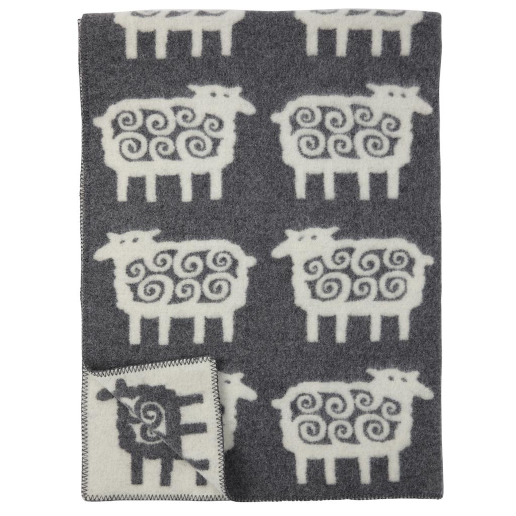 Grey Sheep Wool Blanket