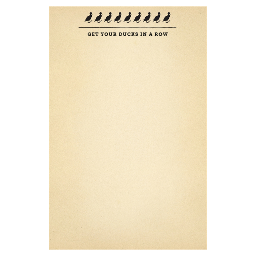 Ducks in a Row Notepad