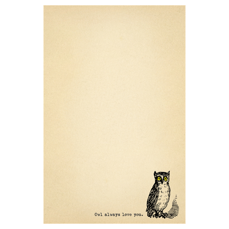 Owl Always Love You Notepad