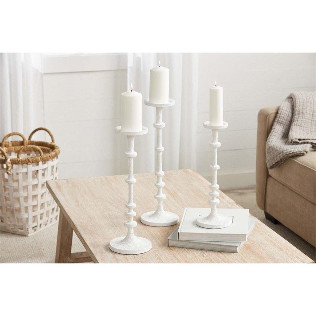 White Metal Candlesticks