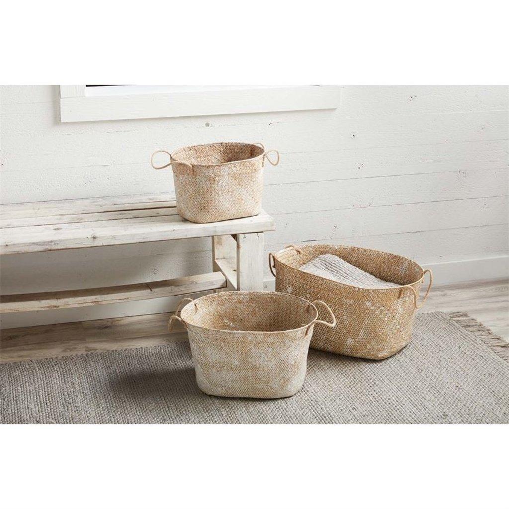 Whitewash Seagrass Baskets