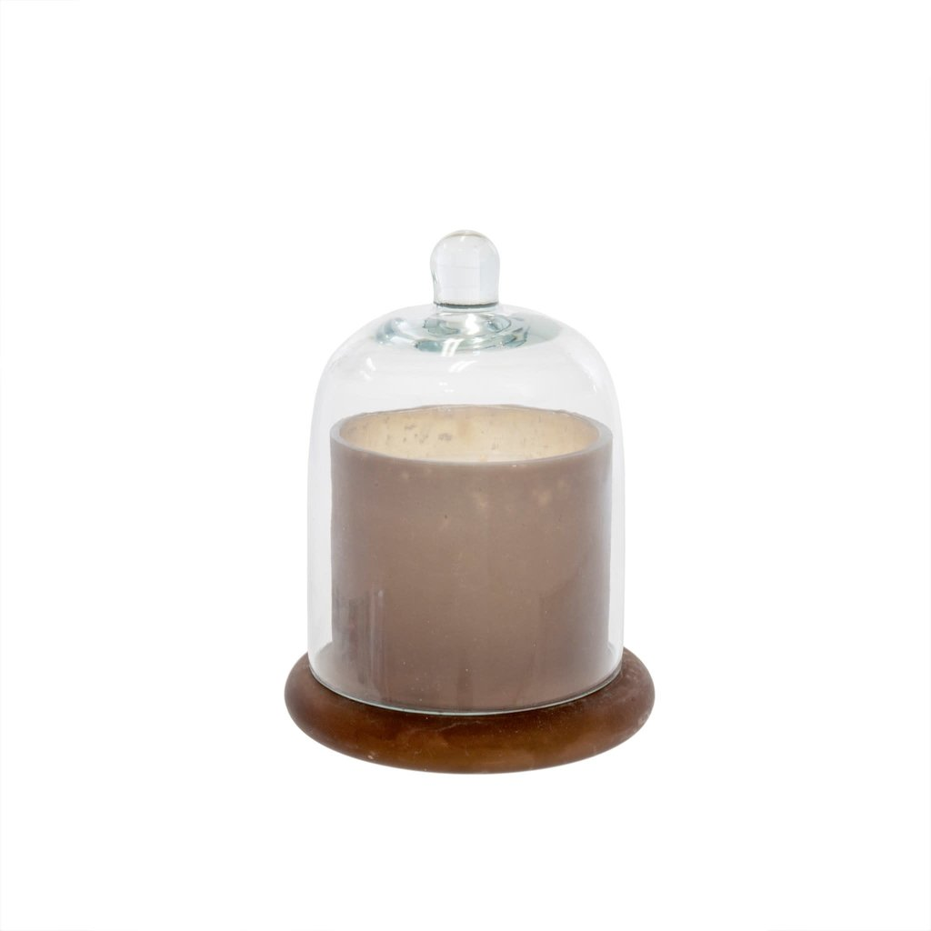 Small Frosted Mocha Cloche Candle