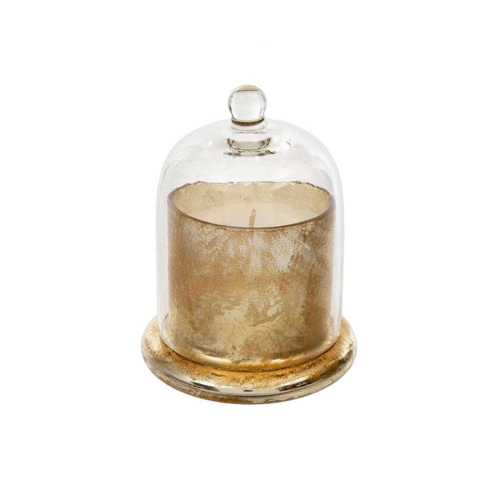Small Gold Cloche Candle