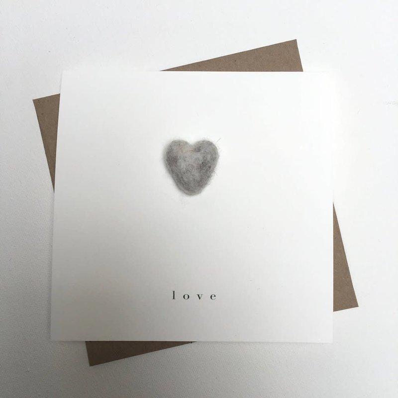 Grey Heart Love Card