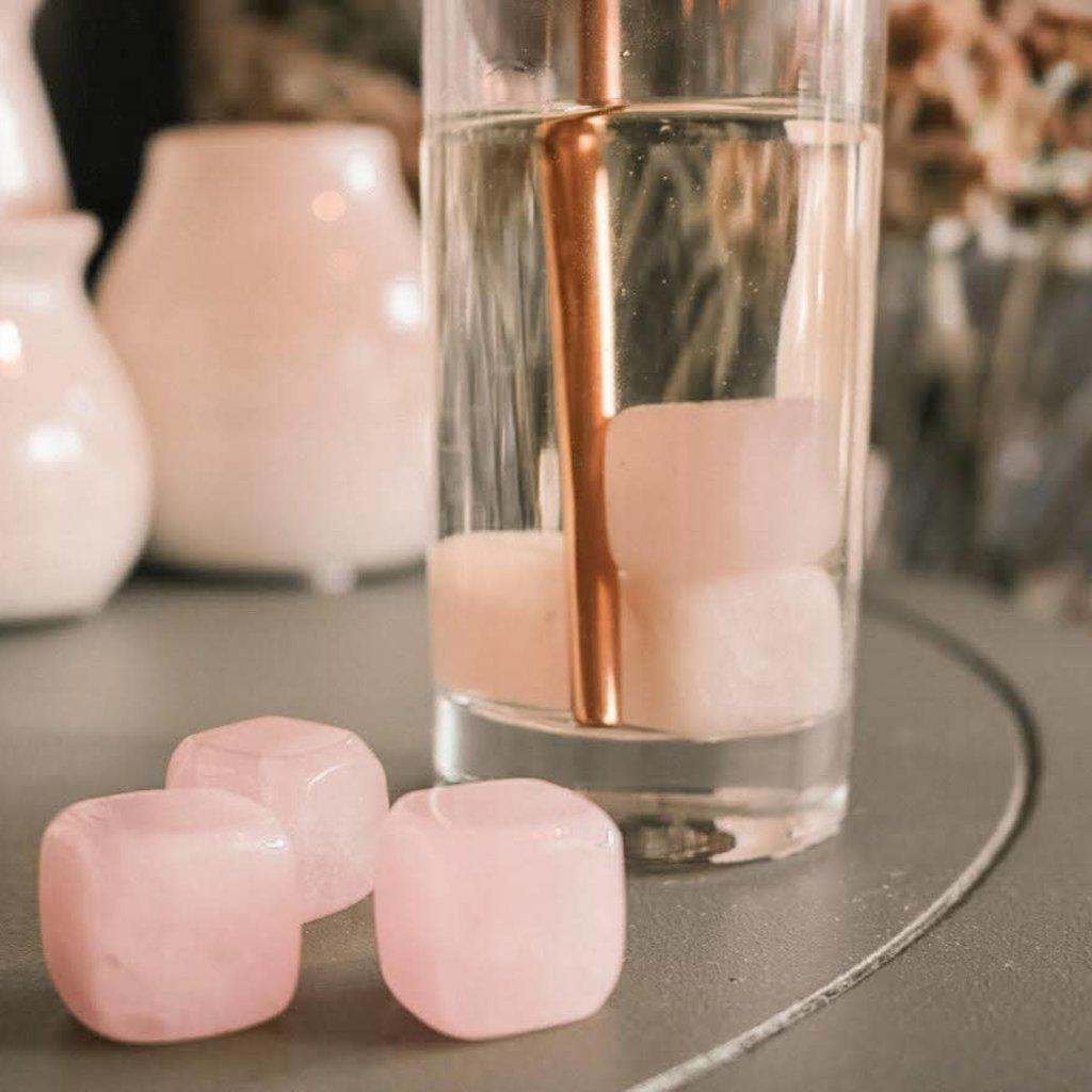 Rose Quartz Ice Gems