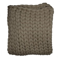 Olive Chunky Knit Throw