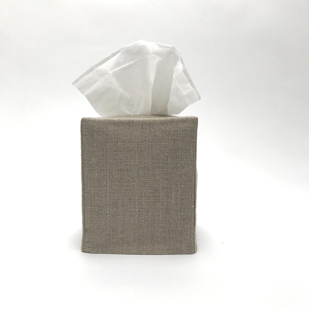 Square Linen Tissue Covers