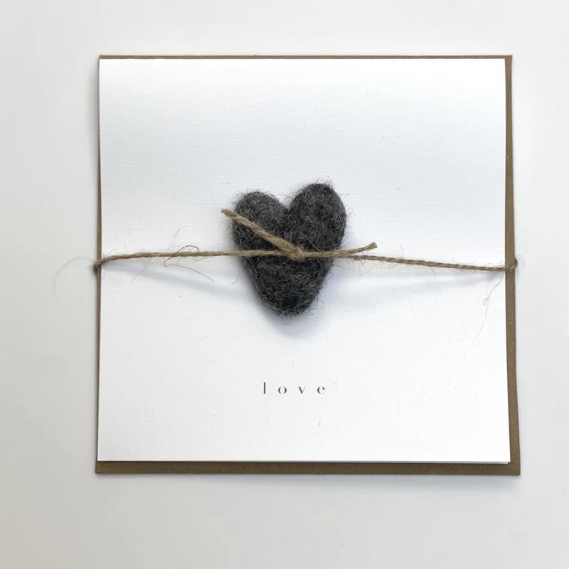 Charcoal Heart Love Card