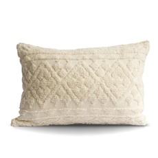 Cream Diamond Tufted Lumbar Pillow