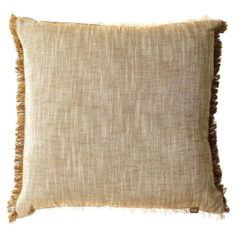 Mustard Slub Chambray Pillow