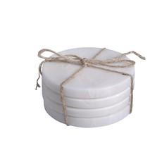S/4 Round Marble Coasters