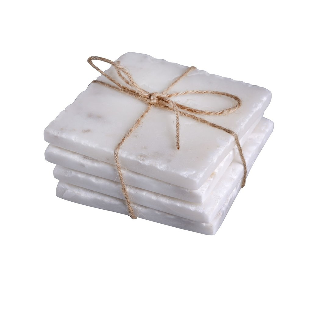 S/4 Square Marble Coasters