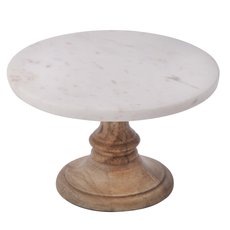 Marble Plate on Wood Stand
