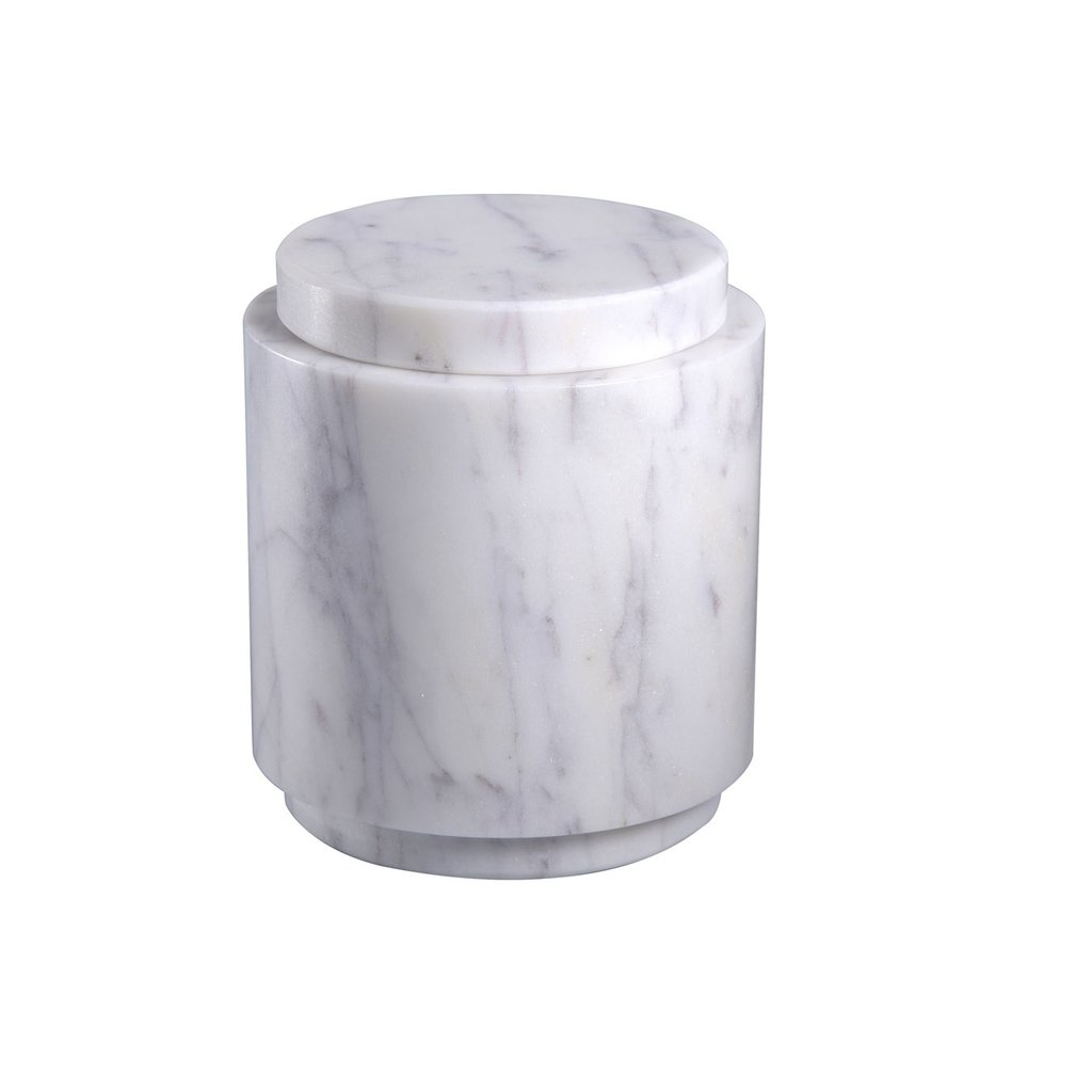 Lidded Marble Cannisters