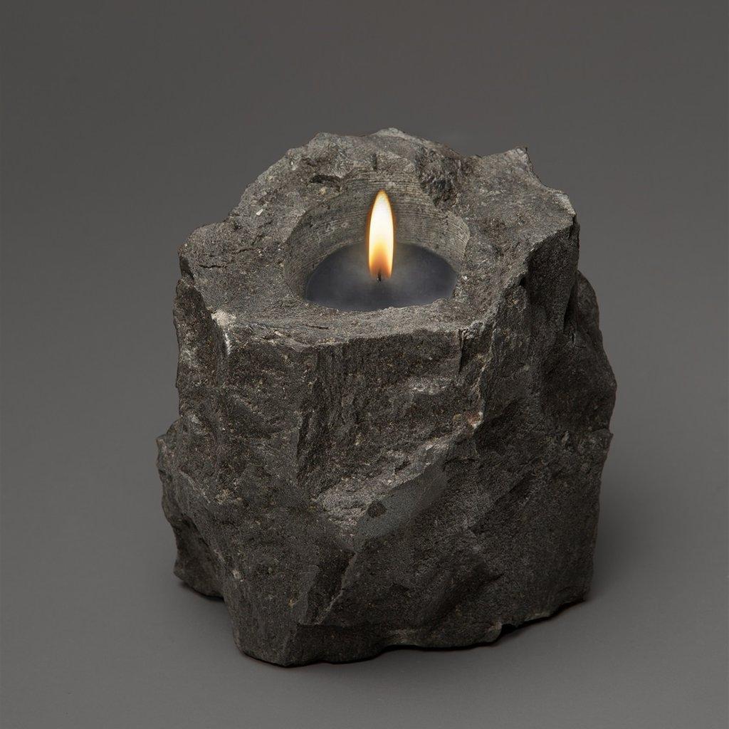 Lava Stone Candle Holder