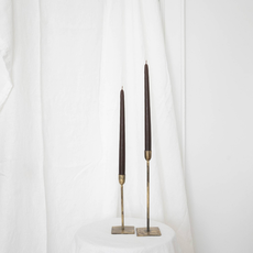 S/2 Chocolate Taper Candles