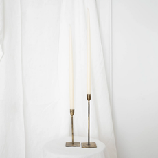 S/2 Ivory Taper Candles