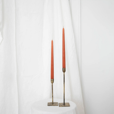 S/2 Terracotta Taper Candles