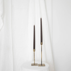 S/2 Olive Taper Candles
