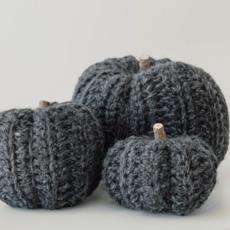 Small Crocheted Pumpkins
