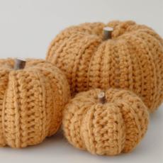 Large Crocheted Pumpkins