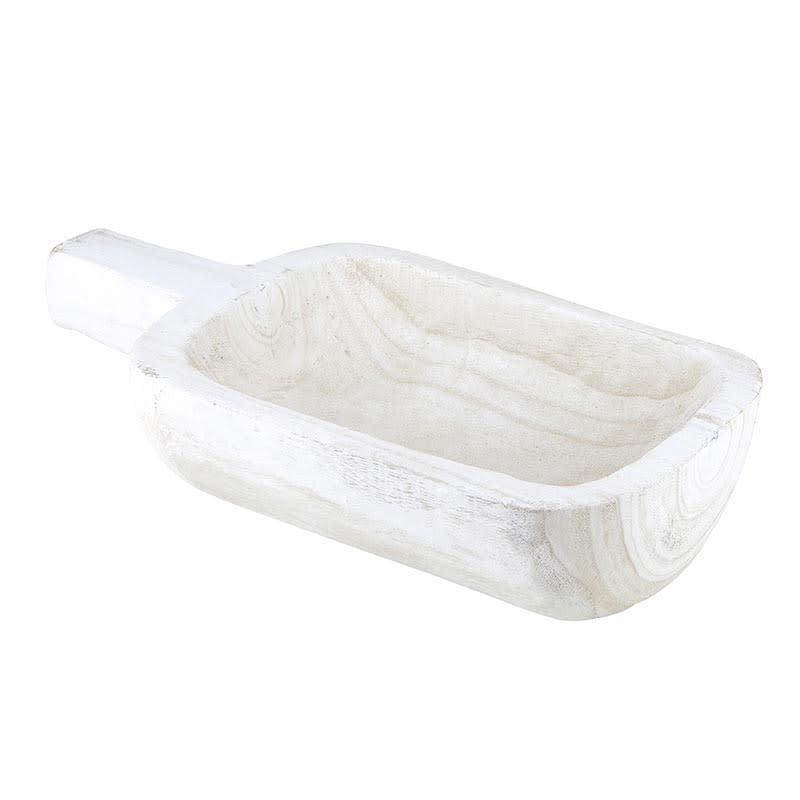 White Paulownia Handle Tray
