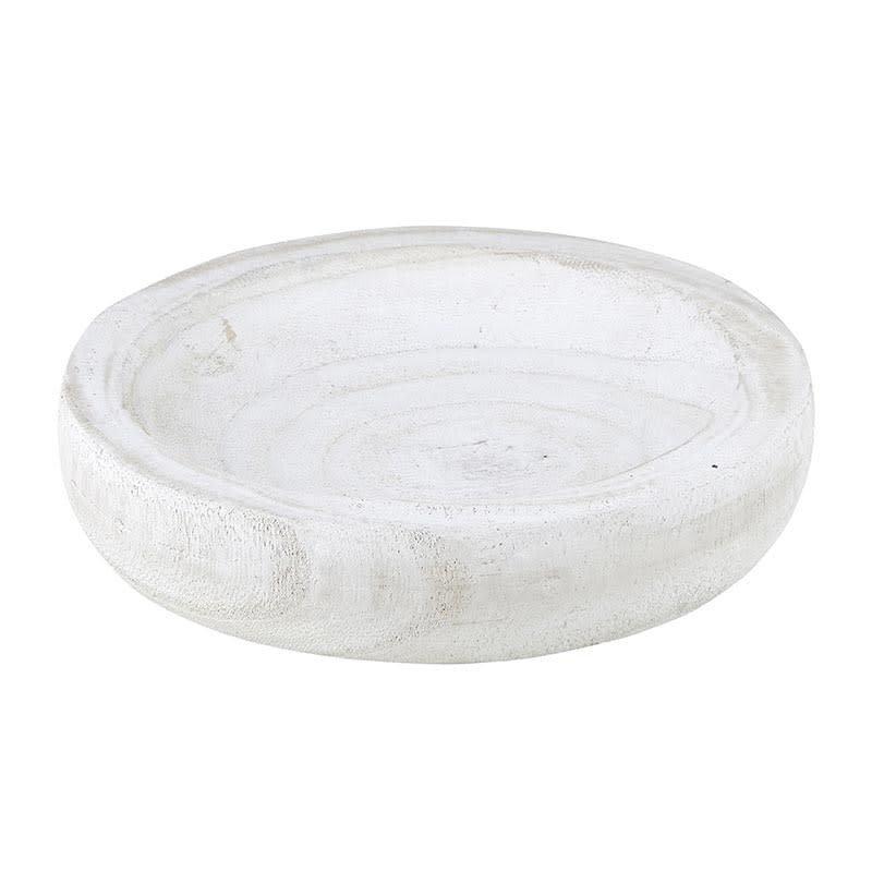 Small White Paulownia Bowl