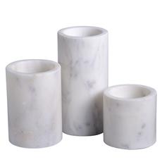 Marble Cylinder Votives