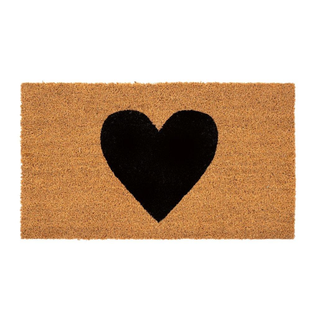 Black Heart Doormat